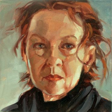 portrait of the artist in oils