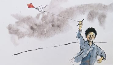 from The Peasant Prince, young Li flying a kite