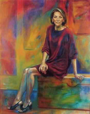 Portrait of Felicity Kennett by Anne Spudvilas