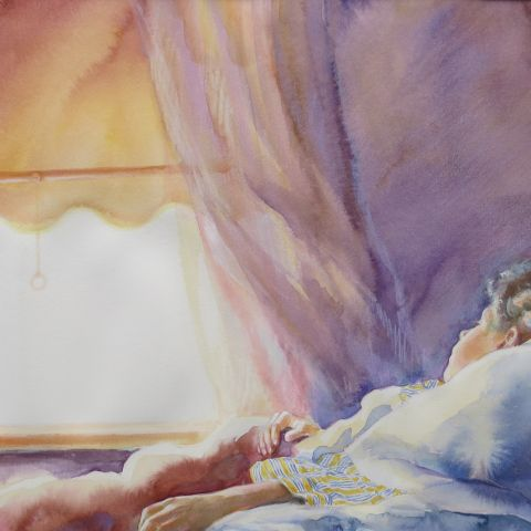 Watercolor illustration from Jenny Angel by Anne Spudvilas