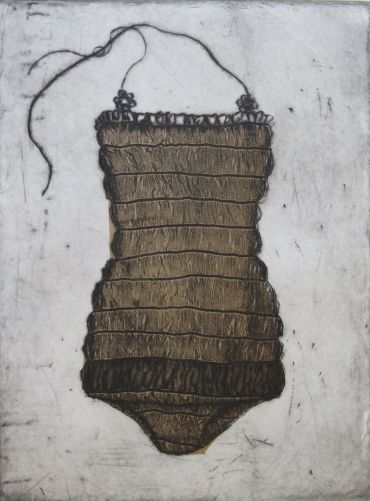 etching of vintage swimsuit