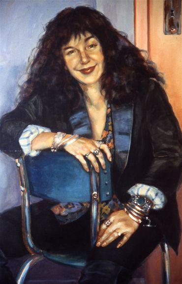 portrait of writer Isobelle Carmody by Anne Spudvilas