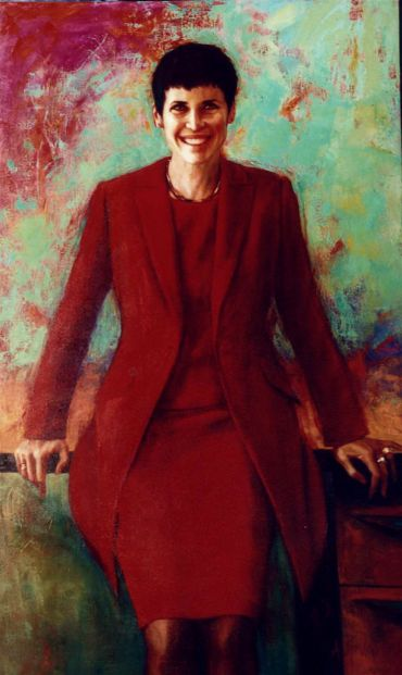 Portrait of principal Rosa Storelli by Anne Spudvilas - commissioned by Methodist Ladies College